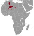 Massoutiera mzabi range map.png