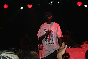 Masta Killa performing in San Francisco, California.