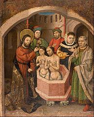 Saint Bartholomew Baptising