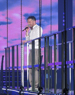 Matt Cardle - Cardle performing on the X Factor tour.