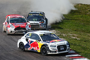 2015 World RX of Sweden - Mattias Ekström, Reinis Nitišs and Petter Solberg