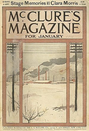 S. S. McClure - Cover of January 1901 issue of McClure's Magazine.