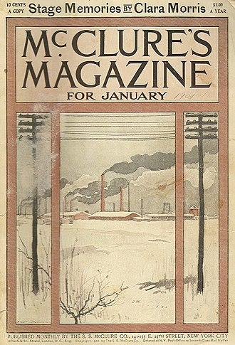 Muckraker - McClure's (cover, January 1901) published many early muckraker articles.