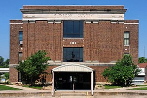 Das McIntosh County Courthouse in Eufaula, gelistet im NRHP Nr. 85000683[1]