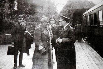 Anlage Süd - Meeting of Adolf Hitler and Benito Mussolini in Stępina, 27 August 1941