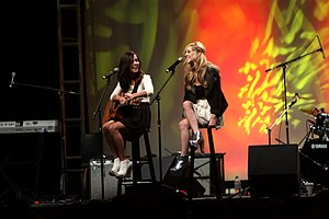 Megan and Liz - Megan and Liz performing at VidCon 2012 at the Anaheim Convention Center in Anaheim, California.