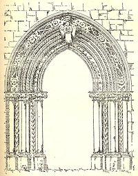 Mellifont Abbey Ireland Chapter House Doorway 1755
