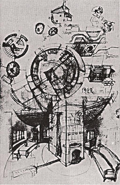 Melnikov house sketch 1