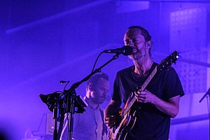 Atoms for Peace (band) - Thom Yorke (front) and Nigel Godrich (back)