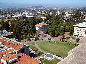 Campus of the University of California, Berkeley - Memorial Glade, at the center of the Berkeley campus.