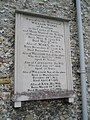 Memorial on the external south wall at All Saints, East Meon - geograph.org.uk - 1499958.jpg