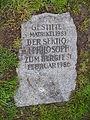 Memorial stone Camsdorfer Brücke Jena.JPG