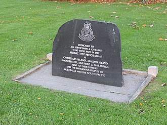 Kiritimati - Memorial tablet in Paisley remembering the people concerned in the tests