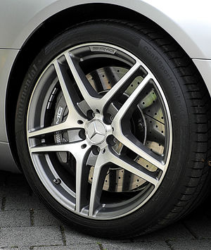 Continental AG - Continental tyres on a Mercedes-Benz SLS AMG