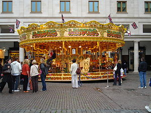 A traditional Merry-go-round in Covent Garden,...