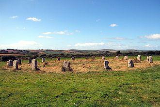 Cornish mythology - The Merry Maidens at St Buryan