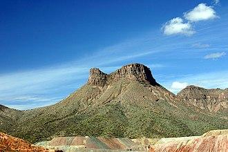 Ray, Arizona - Teapot Mesa, above Ray mine