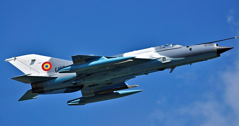File:MiG-21 LanceR in flight.jpg