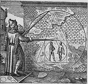 Harry Potter and the Deathly Hallows - The Philosopher's Stone as pictured in Michael Maier's 1617 alchemical work Atalanta Fugiens, similar to the presentation of the Deathly Hallows and Resurrection Stone.