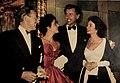 Michael Wilding, Liz Taylor, Stewart Granger, and Jean Simmons, 1952.jpg
