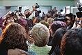 Michelle Bachelet visita junta de vecinos Nº 34 de la comuna de Lo Espejo (8673366618).jpg
