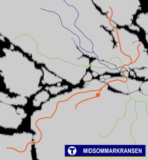 Midsommarkransen metro station