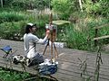 Miguel painting Gunnersbury Triangle pond.jpg