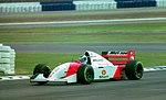 Mika Hakkinen - Mclaren MP4-9 at the 1994 British Grand Prix (31697606054).jpg