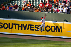 Mike Trout - Trout robs J. J. Hardy of a home run, June 27, 2012