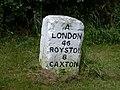 Milestone London 46 Royston 8 Caxton 4 - geograph.org.uk - 498045.jpg