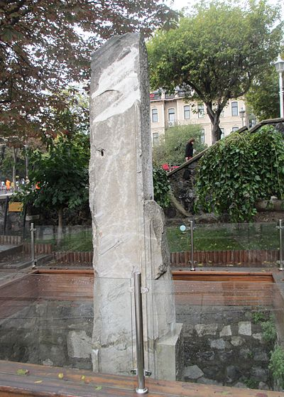 The excavated remains of the Milion zero-mile marker in Istanbul (the former Constantinople).