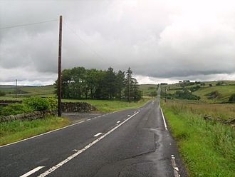 Military Road (Northumberland) - Near Once Brewed, westward