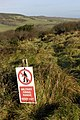 Military firing range warning sign - geograph.org.uk - 645525.jpg