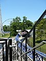 Millennium Force train coming out of tunnel.jpg