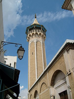 Medina of Tunis - Minaret of mosque Hammouda-Pacha
