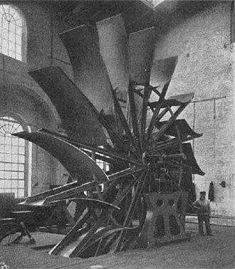 Underground mine ventilation - The mine ventilation fan, before 1908