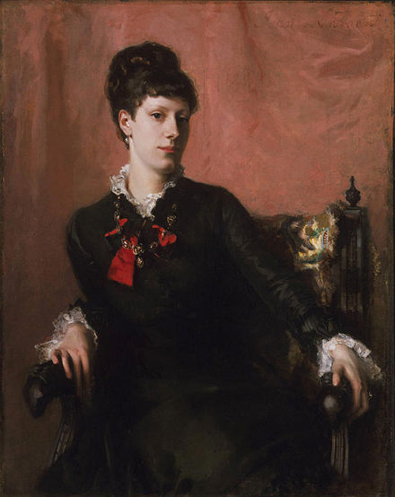 Fanny Watts, Sargent's childhood friend. The first painting at Paris Salon, 1877, Philadelphia Museum of Art Miss Frances Sherborne Ridley Watts.jpg
