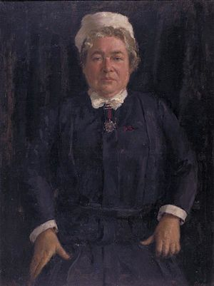 Anthony Devas - Miss M S Cochrane, RRC, SRN, Matron, Charing Cross Hospital (Art.IWM ART LD1472)