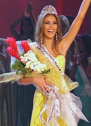 Dayana Mendoza - Mendoza after winning the title of Miss Universe