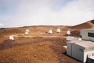 Submillimeter Array - The Array under construction in 2002