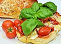 Mmm... sauteed tomatoes and mozz with fresh basil and olive oil (6243832083).jpg