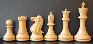 Outline of chess - A Staunton chess set