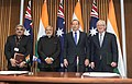 Modi and Abbott at the signing ceremony of the Framework for Security Cooperation between India and Australia.jpg