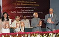 """Mohd. Hamid Ansari releasing """"Granthavali"""", a compilation of the writingworks of Dr. Dineshnandini Dalmia, in New Delhi on November 03, 2012. The Chief Minister of Delhi, Smt. Sheila Dikshit is also seen.jpg"""