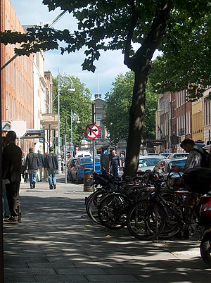 Molesworth Street, Dublin - A street scene on Molesworth Street, Dublin. Leinster House is partially visible in the background.
