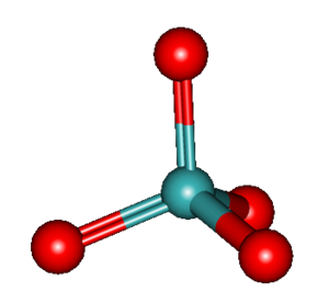 Molybdate - 3D model of the molybdate ion
