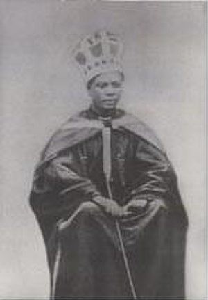 Hans Massaquoi - His grandfather Momolu as king of the Gallinas in 1905.