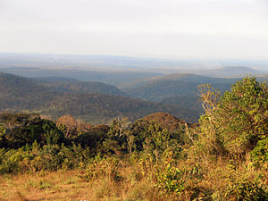 mountain panorama view in Mondulkiri province