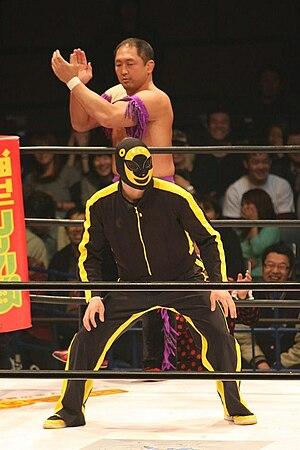 Shinjiro Otani - Otani in a HUSTLE match with Monster C.