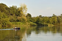 Morava river between Austria and Slovakia during sunset.jpg